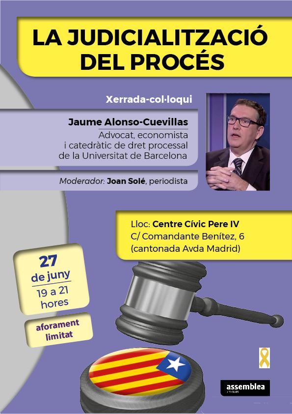 Jaume Alonso-Cuevillas parlarà de la judicialització del procés
