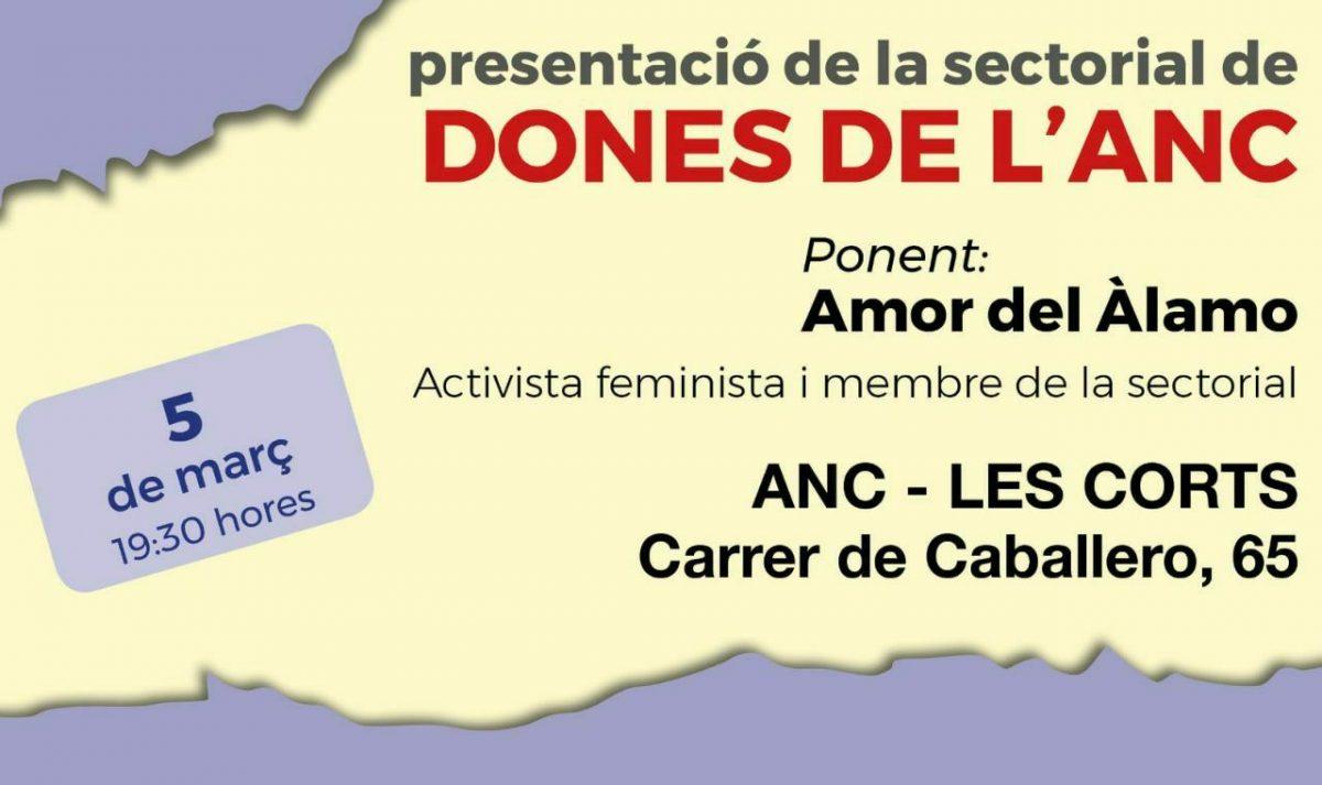 Presentació de la Sectorial de Dones de l'ANC