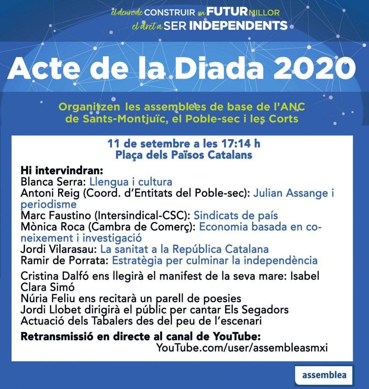 11S2020 a la Plaça dels Països Catalans