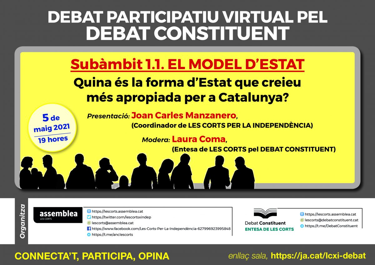 Debat participatiu virtual sobre el model d'estat